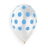 Clear - Blue Polkadots
