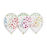 Clear - Coloured Confetti